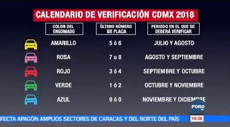 verificacion segundo semestre 2016 calendario verificacion taximetros cdmx 2016 suspenden