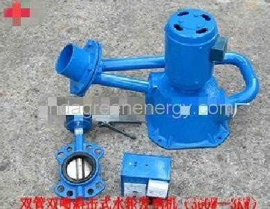 Single Jet Small Water Turbines Dual Pipe Dual Nozzle Incline Jet Micro Hydro Turbine