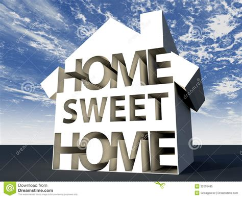 home sweet home royalty free stock photo image 32070485