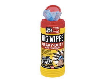 big wipes pr 233 sente des lingettes industrielles nettoyantes