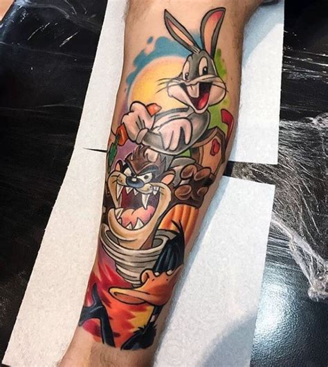 cartoon tattoo designs 60 looney tunes tattoos for animated ink ideas