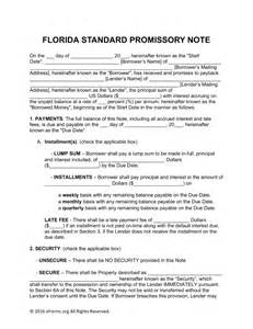 promissory note template florida free florida promissory note templates word pdf