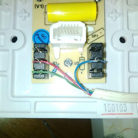 ntl phone socket wiring diagram images wiring diagram