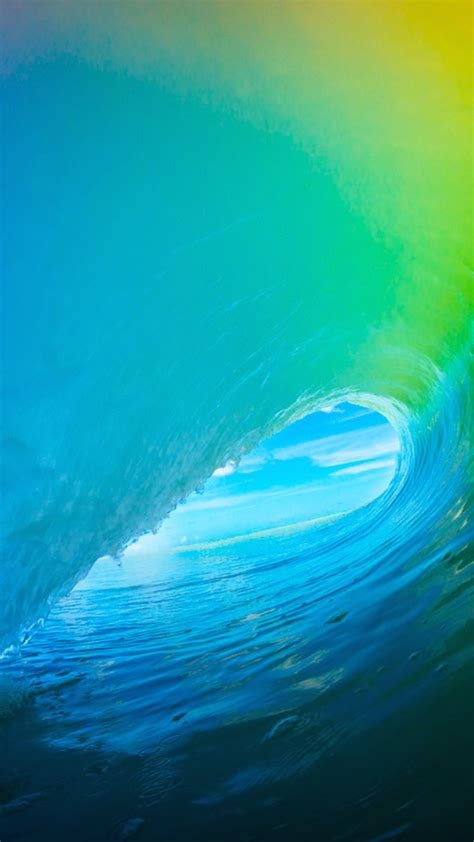 colorful wave wallpaper download ios 9 colorful surf wave iphone 6 hd wallpaper