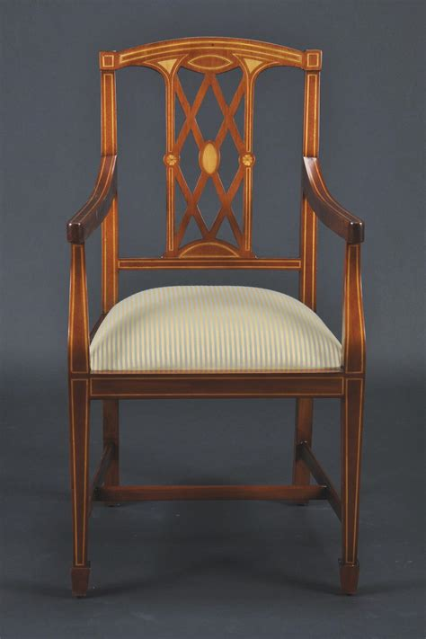 edwardian inlaid solid mahogany dining room chairs federal  georgian style