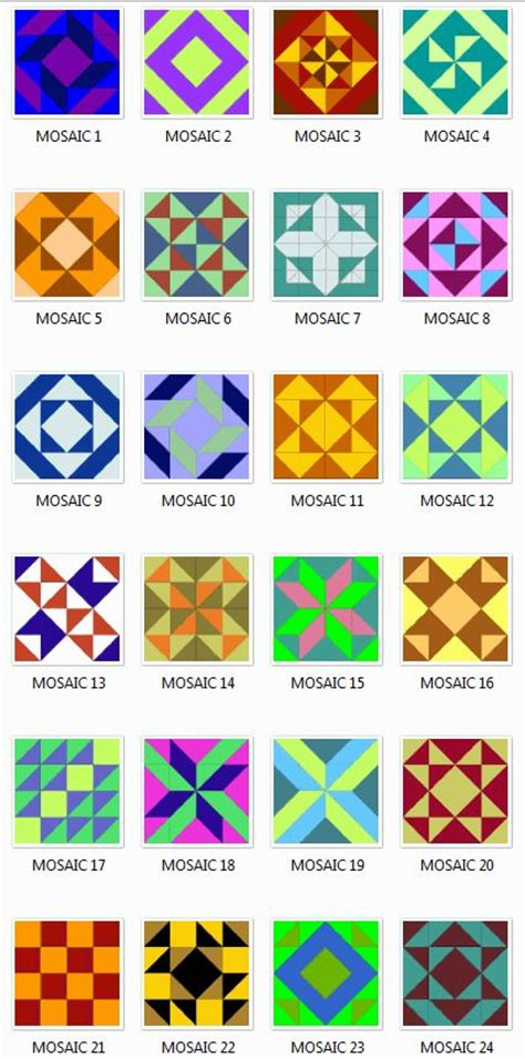 mosaic pattern names 400 best barn quilts images on pinterest barn quilt