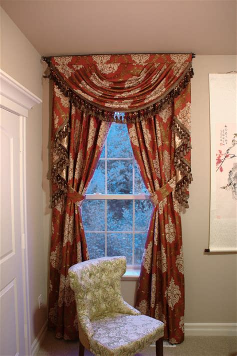 swag valances for living room turandot swag valance window treatment traditional