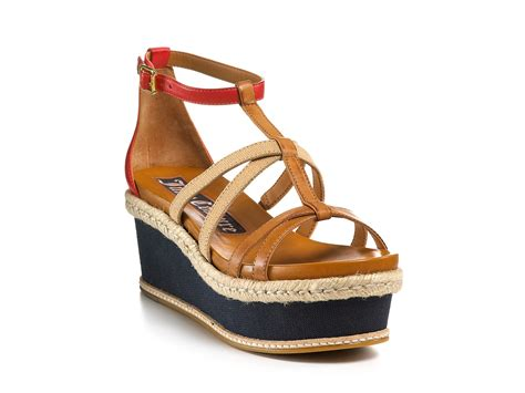 flat wedges shoes couture sandals moira flat strappy wedges in brown