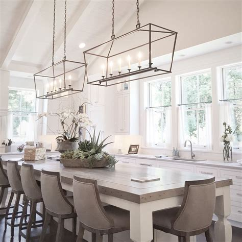 white kitchen island table top 25 best dining room lighting ideas on