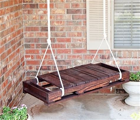 how to hang a bench swing from a tree upcycled pallet furniture ideas recycled things