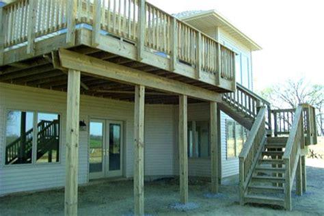 elevated deck ideas fancy creek landscaping