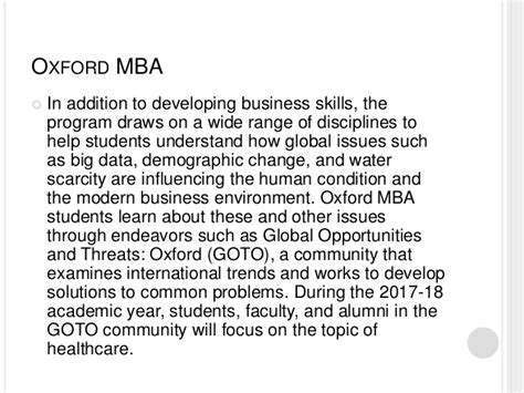 Mba How To Start A Software Business by The Oxford Mba A Top Program For Global Business