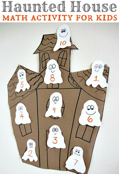 haunted house for kids halloween math activity for kids