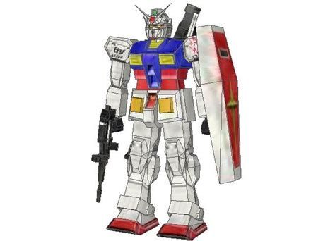 Papercraft Gundam Template - new paper craft simple rx 78 2 gundam papercraft free