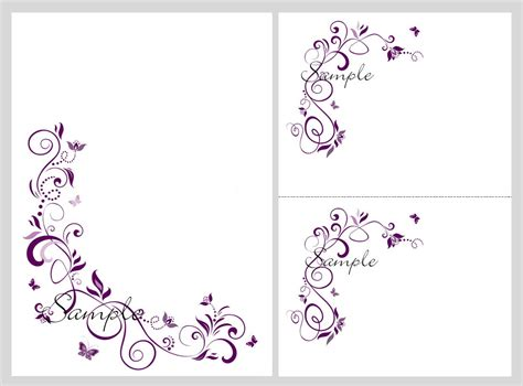 wedding templates free butterfly invitations template best template collection