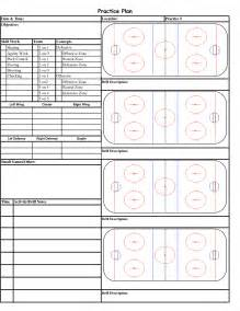 blank hockey practice plan template hockey templates images