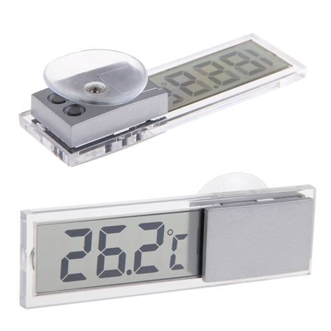 Car Small Temperature Meter With Suction Cu car small temperature meter with suction cup transparent jakartanotebook
