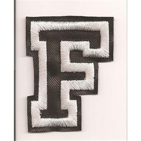 patch embroidery letter f 5cm high los parches
