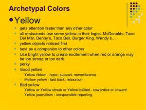 what color does yellow represent the psychology of color