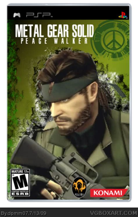 theme psp mgs peace walker metal gear solid peace walker psp box art cover by dpmm07