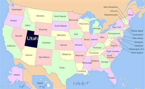 usa states map utah utah us ski resorts