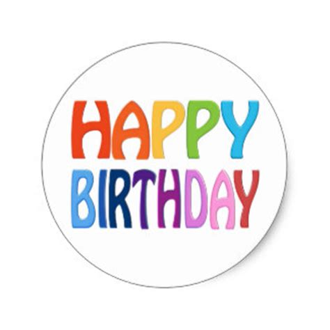 happy stickers for card birthday stickers zazzle