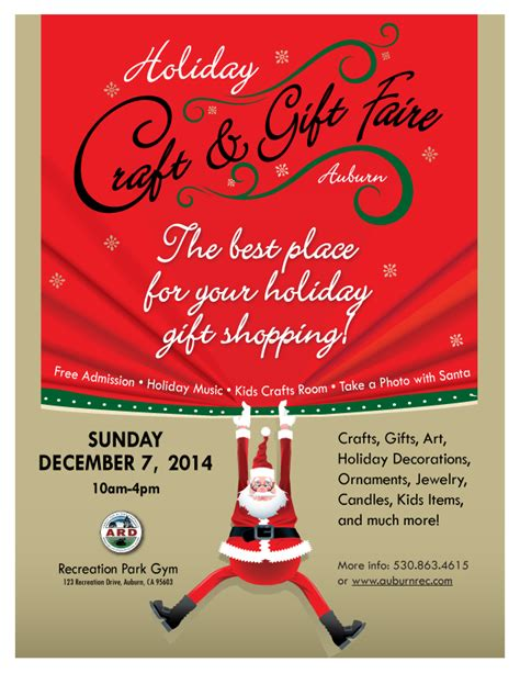 visit auburn california holiday craft gift faire 2014