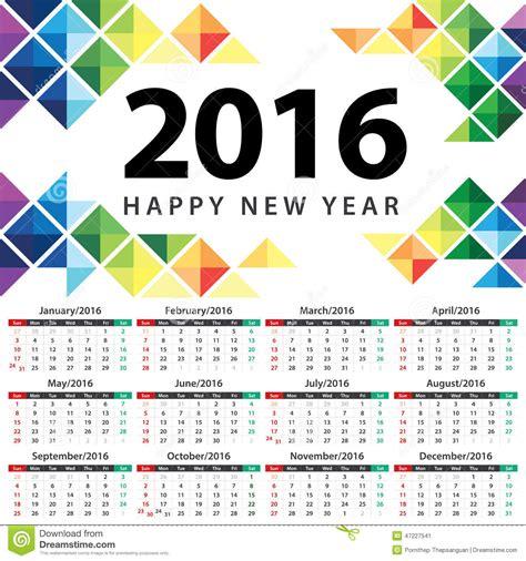 calendar design sles 2016 calendar 2016 stock vector image 47227541