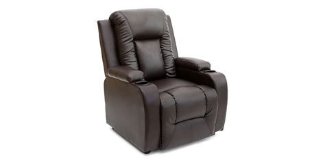 push back recliner chair oscar push back recliner chair in brown