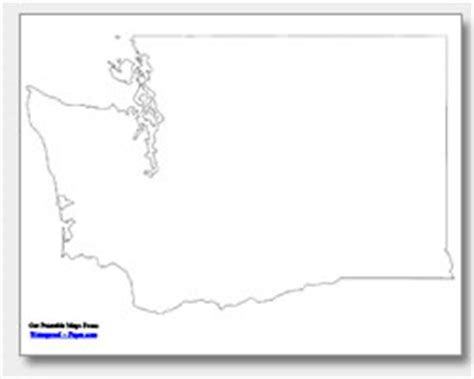 Blank Outline Map Of Washington State by Printable Washington Maps State Outline County Cities