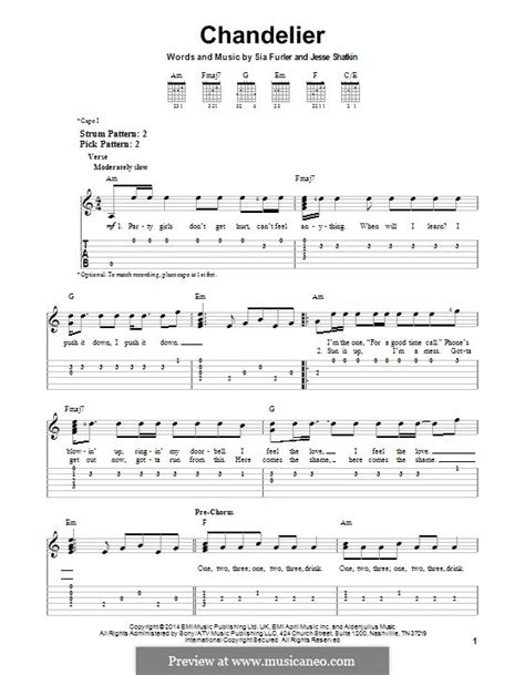 Sia Chandelier Chords Chandelier Sia By S Furler J Shatkin Sheet On Musicaneo