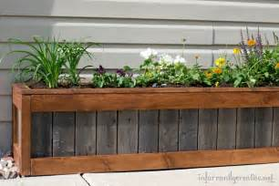 Building A Window Flower Box - something old something new planter box