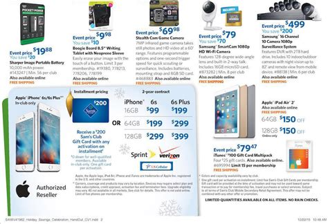 sam s club lowest prices of the season event iphone 6s for 99 150 air 2 64gb