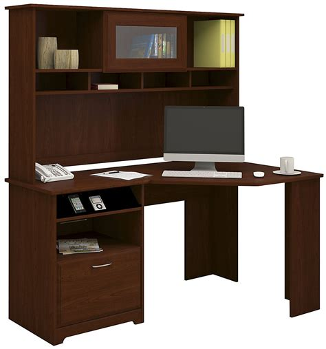 Cherry Corner Desk With Hutch Bush Furniture Cherry Corner Desk With Hutch Cab008hvc