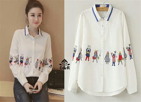 Kemeja Putih Untuk Perempuan baju kemeja wanita terbaru lengan panjang warna putih cantik