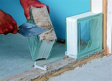 build  glass block wall ideas advice diy  bq