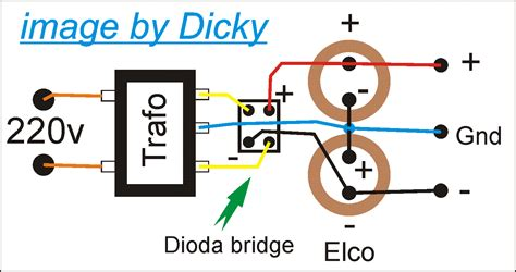 dioda bridge trafo ct dicky s psu power suplay unit sederhana