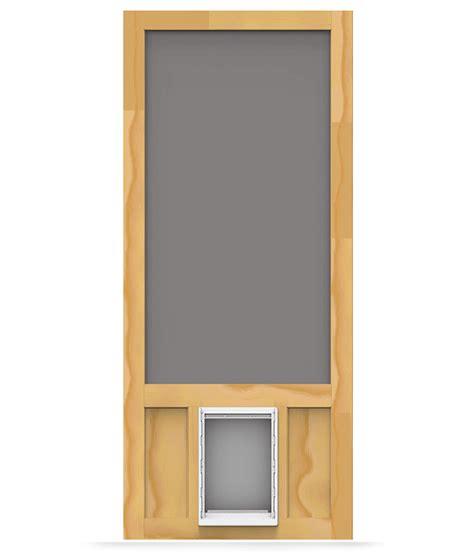 Which Is Better Vinyl Or Aluminum Screen Door - chesapeake wood screen door with pet door screen tight