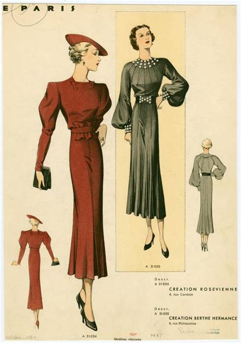 womens fashion mid thurtys 1930s fashion women dress 1937 02 jpg 600 215 852 pixels my