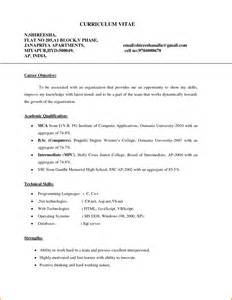 Career Objective For Resume For Fresher 10 Career Objective Resume For Freshers Denial Letter