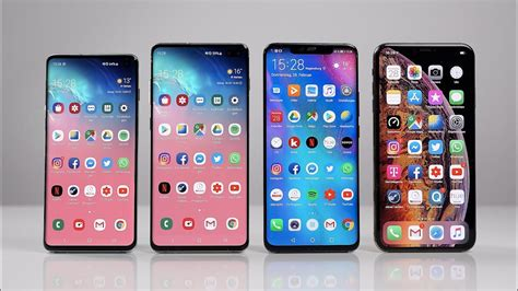 samsung galaxy s10 s10 vs huawei mate 20 pro vs apple iphone xs max benchmark swagtab