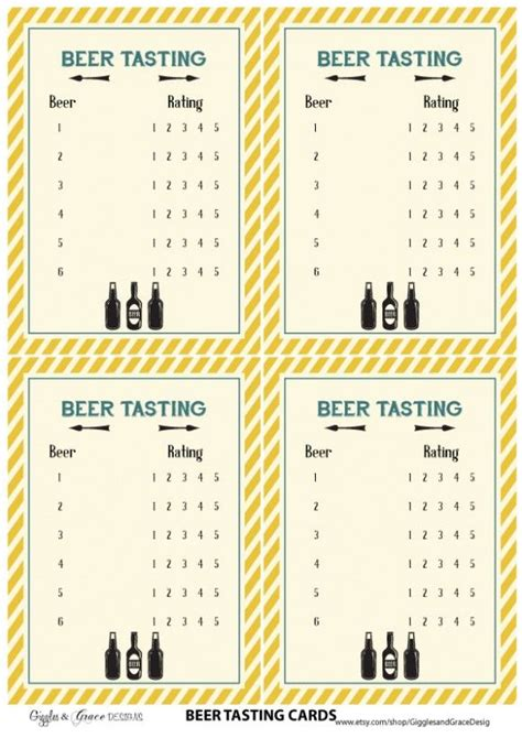 flight test cards template free tasting printables from giggles grace