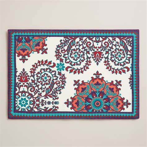 world market suzani curtains suzani nomad placemats set of 4 world market