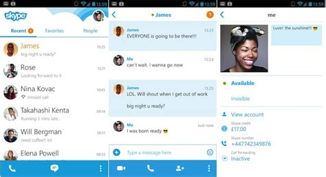 skype for android free skype for android makeover brings new ui and messaging technology news
