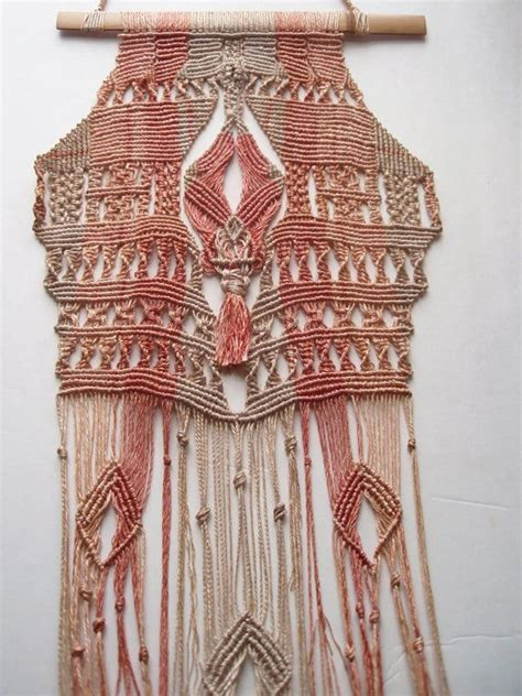 70s Macrame - stunning 70s micro macrame wall hanging made