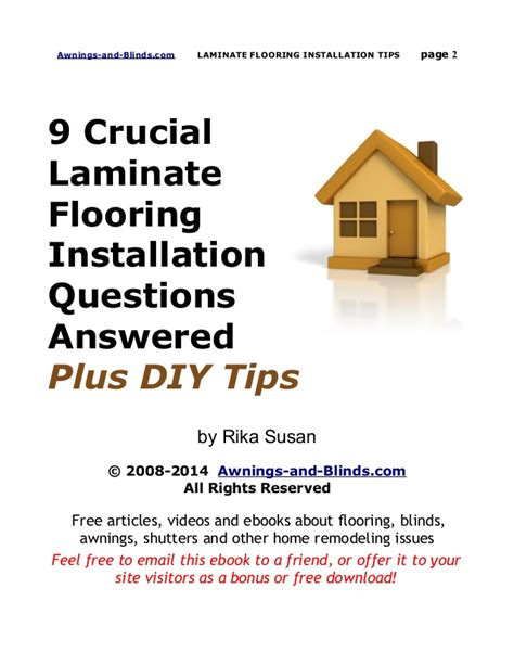 Laminate Flooring Installation Tips Answer These 9 Questions Before Laying Laminate Flooring