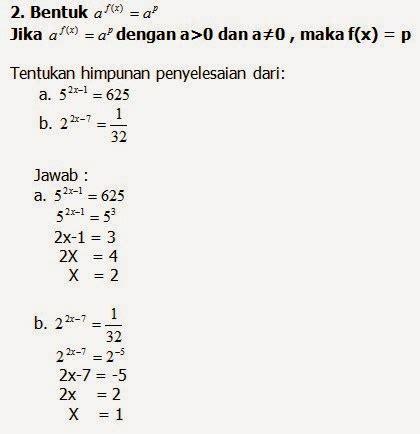 rumus matematika fungsi eksponen  logaritma sma kelas