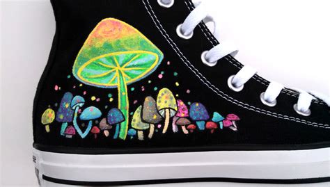 glow in the paint shoes glow in the painted shoes custom converse by ceil on