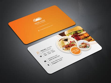 catering business cards templates free best business cards
