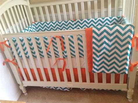 teal and orange bedding baby bedding